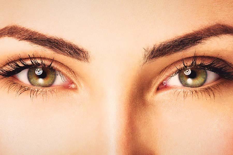 Schöne Augenlider