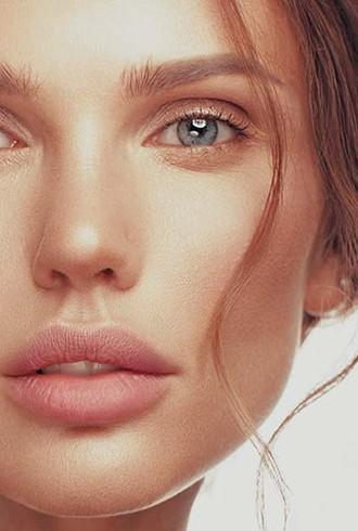 schöne Frau wohlgeformtes Gesicht