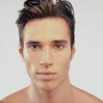 Gesicht attraktiver junger Mann